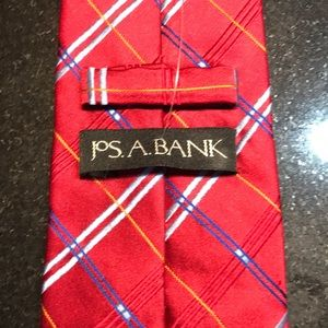 JoS A Bank men's tie - red and blue color